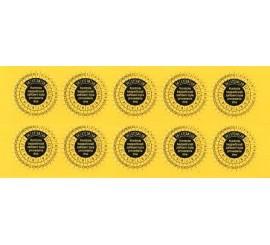 P 9081 - samolepiace kontrolne štítky pre zváračky 10ks
