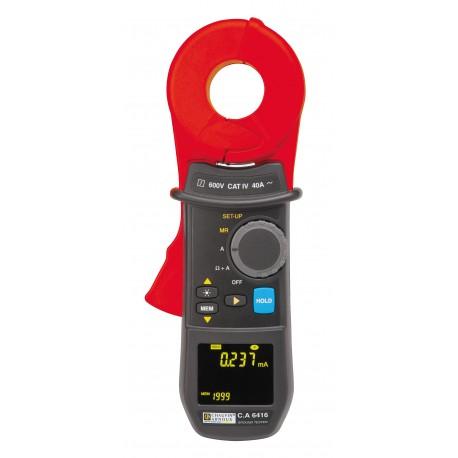 CA 6416 + kalibračná slučka - kliešťový merač zemných odporov