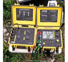 CA 6472 + CA 6474 + 100m sada - merač uzemnenia a rezistivity