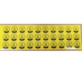 P 9080 - samolepiace štítky pre označenie budúcej kontroly 30ks