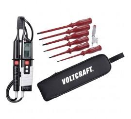 VC 64 - skúšačka + sada VDE skrutkovačov + Voltcraft puzdro
