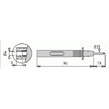 PJP 405-IEC-5, merací hrot, zelený